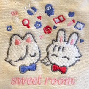 205号室刺繍ランチトート