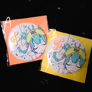 ◤ SALE ! 520→210 ◢ 彗眠缶バッジ 音符ver.