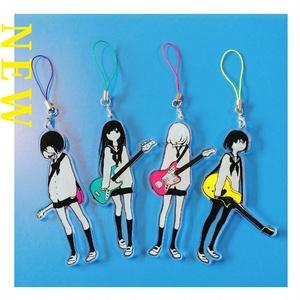 ギター&ベース女子高生 アクリルストラップ