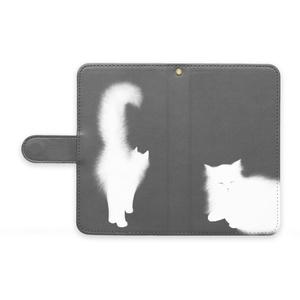 白猫ー手帳型Androidケース