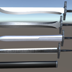 fbxモデル「ロングソードセット」