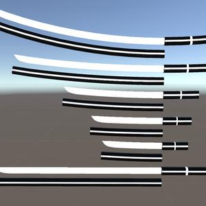 unity/VRC向けモデル「試製光刃」