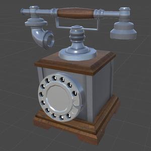 fbxモデル「classic phone」