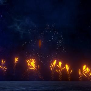 MQOf FireWorks 「パーティクル打ち上げ花火」