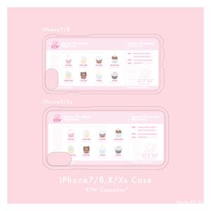 RTW cupcakesクリアiPhoneケース