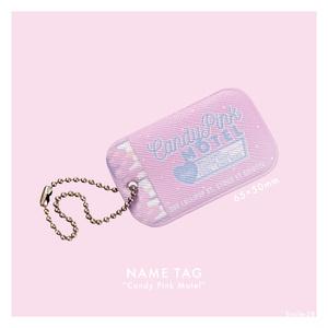Candy Pink Motelネームタグ