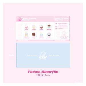 RTW cupcakesチケットクリアファイル