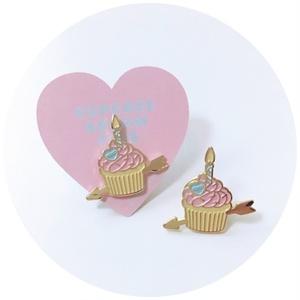 カップケーキアローピンバッチ