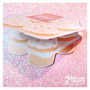 カップケーキパックメッセージカード