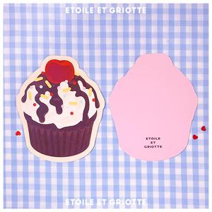 チョコカップケーキカード(封筒付き)