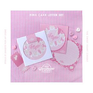 Pink Animal Cakeレターセット