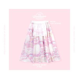 エプロン付きスカート(ピンク)