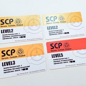 【SCP】クリアランス別レベルカードキー