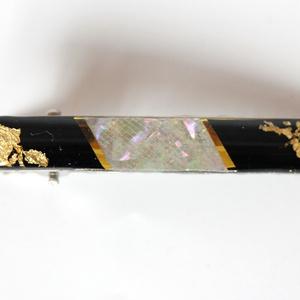 126. 螺鈿と金箔のヘアピン
