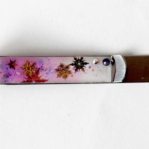 130. 雪の図案ペーパークリップ 小 (紫)
