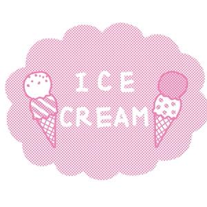 アイスクリームのTシャツ