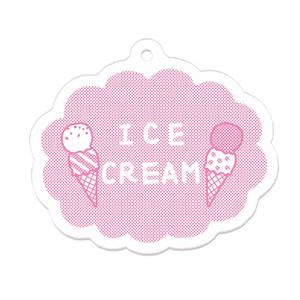 アイスクリームのアクリルキーホルダー