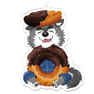 アクリルキーホルダー【ドーナツと狼くん】
