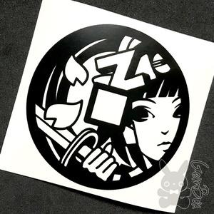 【ぜにぃ姫】BitZeny 屋内カッティングステッカー 黒 100mm