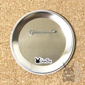 モナコインちゃんビッグ缶バッジ  76mm