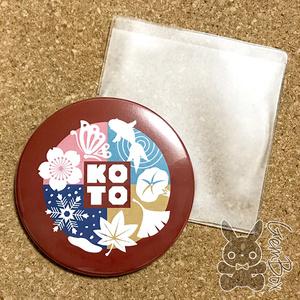 Koto表ロゴビッグ缶ミラー 鏡  76mm