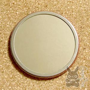 モナコインビッグ缶ミラー 鏡  76mm