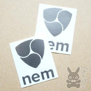 NEM(XEM)カッティングステッカー シルバー/S
