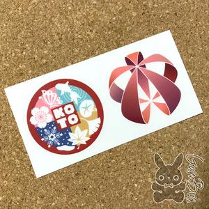 Koto ロゴ クリアステッカー 2種セット
