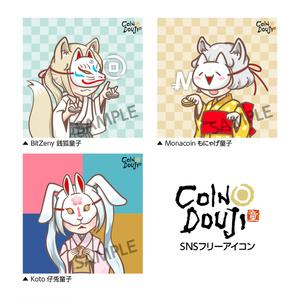 CoinDouji SNSアイコン DL MONA/ZNY/KOTO