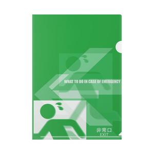非常口オリジナルデザインディレクターズカット版クリアファイル (CF-ZX9-1ExF)