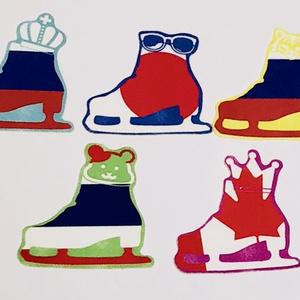 【YOI】フレークシール スケート靴