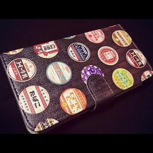 昭和総柄手帳型スマホカバー【iPhone/Android対応】