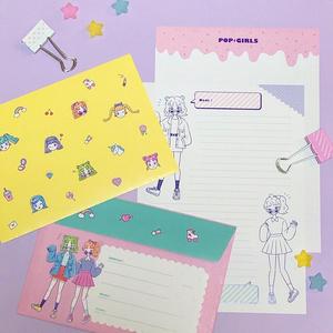 『POP GIRLSシリーズ』レターセット