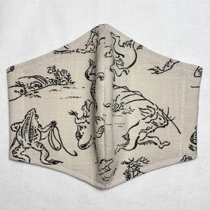【夏向け】鳥獣戯画マスク/和マスク