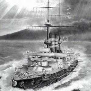 「海の防人 -一等戦艦 三笠 1902-」高精細レプリカ