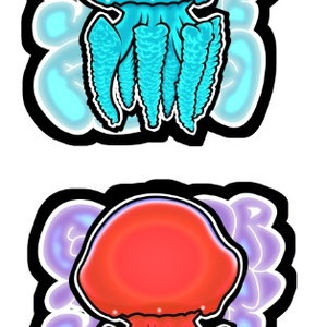 COLOR JELLY FISH STICKER