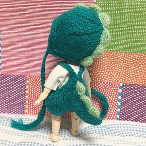 恐竜さんサロペット&帽子セット
