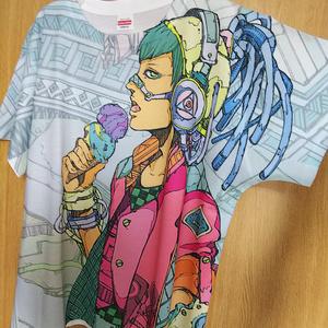 オーバープリントTシャツ「アイス」