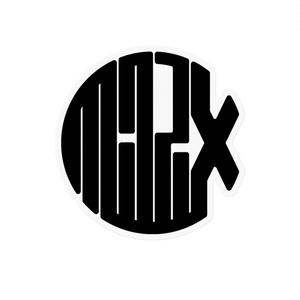Milpix Logo Sticker (Black x Clear)