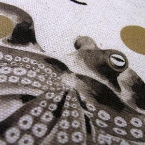 トートバッグS「水墨画タコ柄」