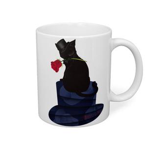 薔薇と猫 GENTLEMEN マグカップ