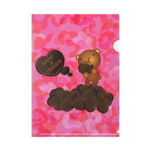 クマチョコ 桃 クリアファイル