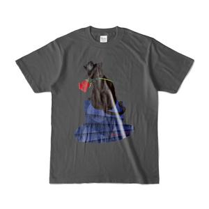 薔薇と猫 GENTLEMEN 濃色Tシャツ