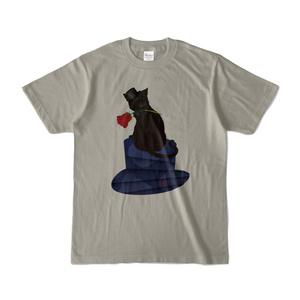 薔薇と猫 GENTLEMEN 淡色Tシャツ