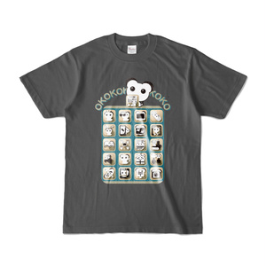 オココアイコン 濃色Tシャツ