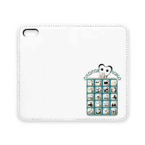 オココアイコン 手帳型iPhoneケース(ベルトなし)