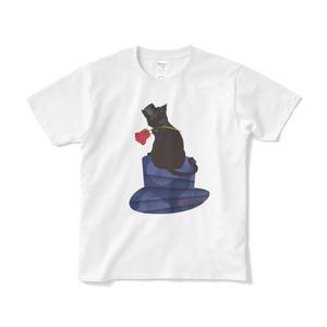 薔薇と猫 GENTLEMEN Tシャツ(短納期)