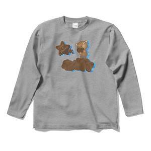 クマチョコ 青 ロングスリーブTシャツ