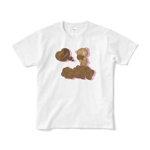 クマチョコ 桃 Tシャツ(短納期)