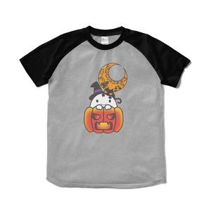 カボチャ畑のふわりん Pumpkin ラグランTシャツ